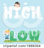 Kids High Low Text Illustration