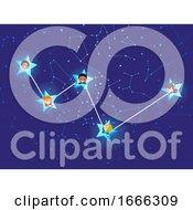 Stickman Kids Cassiopeia Constellation