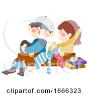 Kids Suitcase Drive Travel Play Illustration