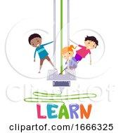 Stickman Kids Printer Learn Lettering Illustration