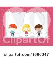 Kids Spotlights Stage Illustration