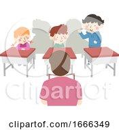Kids Teacher Class Self Introduction Illustration