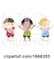 Kids Boys Hawaiian Dress Illustration