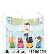 Kids Vacation Story Speech Bubble Illustration
