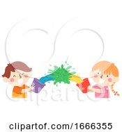 Kids Color Water Mix Play Illustration