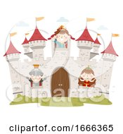 Kids Medieval Castle Windows Illustration