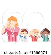 Kids Mute Hello Teacher Illustration