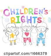 Poster, Art Print Of Kids Childrens Rights Illustration