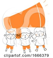 Kids Children Voice Megaphone Illustration