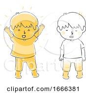 Kids Energy Full Drained Illustration