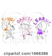Kids Sing Dance Learn Illustration