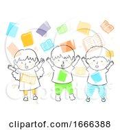 Poster, Art Print Of Kids Books Shower