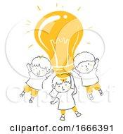 Kids Idea Light Bulb Illustration