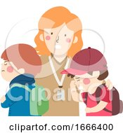 Poster, Art Print Of Kids Boys Student Conflict Teacher Cry