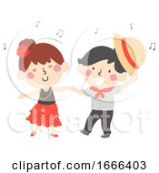 Kids Dance National Hispanic Heritage Illustration