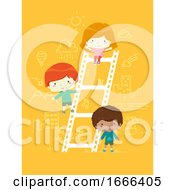 Kids Film Ladder Illustration
