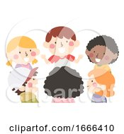 Kids Group Talk Illustration