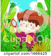 Kid Boy Desert Cactus Magnifying Glass