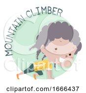 Kid Girl Exercise Mountain Climber Illustration