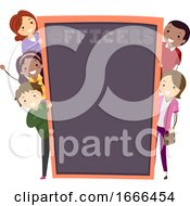 Stickman Parents School Officers Illustration