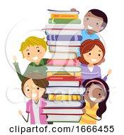 Stickman Parents School Book Fair Illustration