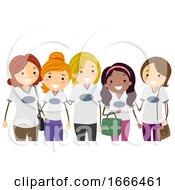 Stickman Moms Group Shirt Illustration