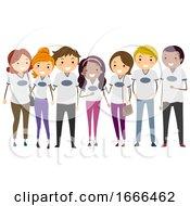 Stickman Parents Group Shirt Illustration