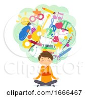 Stickman Teen Guy Yoga Education Illustration