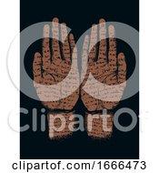 Poster, Art Print Of Hands Written Writing Stencil Illustration