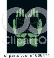 Poster, Art Print Of Hands Book Stencil Illustration