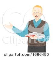 Senior Man Teacher Illustration