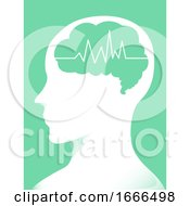 Poster, Art Print Of Brain Man Electric Pulse Illustration