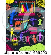 Colored People Festival Illustration