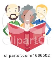 Adult Classmates Book Illustration