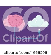 Brain Upload Information Illustration