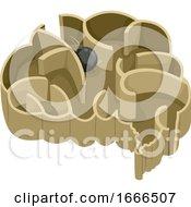 Poster, Art Print Of Brain Steel Ball Maze Illustration