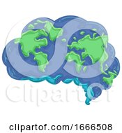 Brain Think Earth Illustration