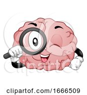 Mascot Brain Search Illustration