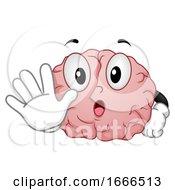 Poster, Art Print Of Brain Stop Illustration