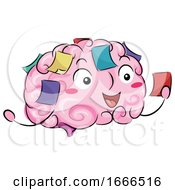 Brain Mascot Reminders Illustration