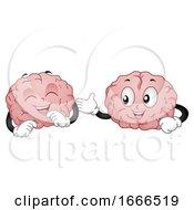 Brain Mascot Communication Illustration