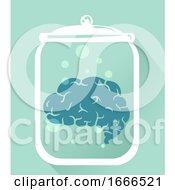 Brain Preserve Jar Illustration
