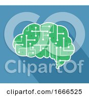 Brain Chip Circuit Illustration