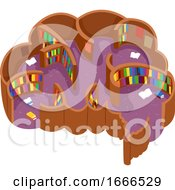 Poster, Art Print Of Brain Maze Library Illustration