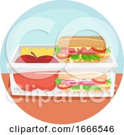 Household Chores Packing Lunch Illustration