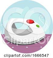 Household Chores Ironing Illustration