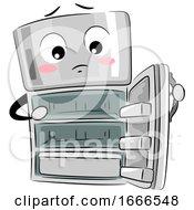 Mascot Refrigerator Empty Illustration