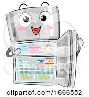 Mascot Refrigerator Organized Illustration