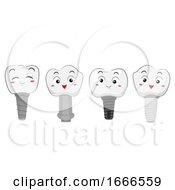 Teeth Mascot Tooth Implant Illustration