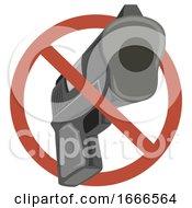 Poster, Art Print Of Gun Ban Illustration